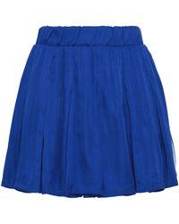 adidas Originals - Pleated Woven Mini Skirt - Lyst