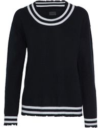 RTA - Distressed Striped Cashmere Sweater - Lyst