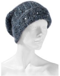 Brunello Cucinelli - Sequin-embellished Knitted Beanie - Lyst