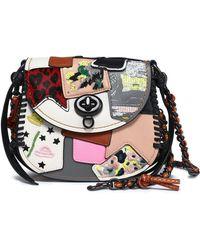 COACH - Embellished Patchwork Leather Shoulder Bag - Lyst