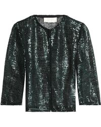 Goat - Sequined Open-knit Jacket - Lyst