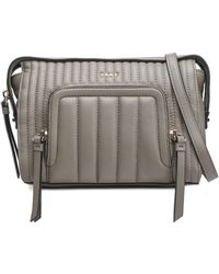DKNY - Quilted Leather Shoulder Bag - Lyst