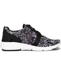 MICHAEL Michael Kors - Leather-trimmed Printed Canvas Trainers - Lyst