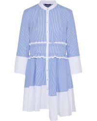 Marissa Webb - Jada Asymmetric Striped Cotton-poplin Shirt Dress - Lyst