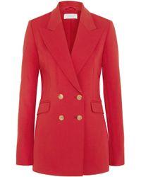 Gabriela Hearst - Angela Double-breasted Wool-blend Blazer Tomato Red - Lyst