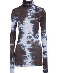 Enza Costa - Tie-dyed Pima Cotton Turtleneck Top - Lyst