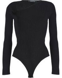 Cushnie et Ochs - Vivian Asymmetric Ribbed-knit Bodysuit - Lyst
