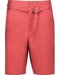 Isabel Marant - Neddy Belted Cotton Shorts - Lyst