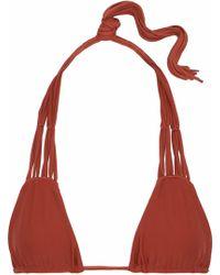 Mikoh Swimwear - Macramé-trimmed Triangle Bikini Top - Lyst