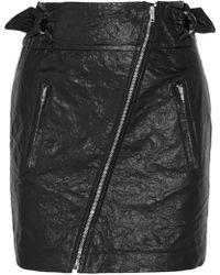 Isabel Marant - Faux Washed-leather Mini Skirt - Lyst