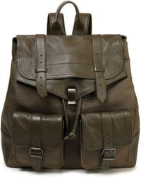 Proenza Schouler - Ps1 Canvas And Brushed-leather Backpack - Lyst