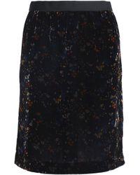 Vanessa Bruno Athé - Floral-print Velvet Skirt - Lyst