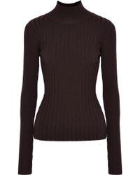 VEDA - Arrow Ribbed Wool-blend Turtleneck Sweater - Lyst
