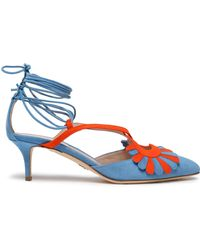 Paula Cademartori - Embellished Suede Court Shoes - Lyst