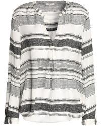 Joie - Striped Silk Top - Lyst