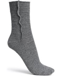 Brunello Cucinelli - Bead-embellished Mélange Cashmere Socks - Lyst