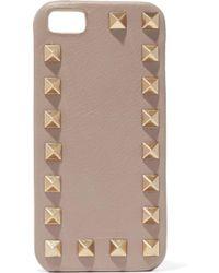 Valentino - Rockstud Textured-leather Iphone 5 Case - Lyst