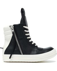 Rick Owens - Two-tone Leather Wedge High-top Sneakers - Lyst