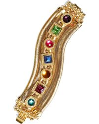 Ben-Amun - Woman 24-karat Gold-plated Swarovski Crystal Bracelet Gold - Lyst