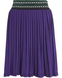 Missoni - Pleated Stretch-knit Mini Skirt - Lyst