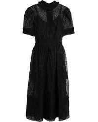 Simone Rocha - Ruffle-trimmed Lace Midi Dress - Lyst