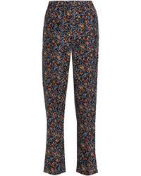 Isabel Marant - Printed Silk Straight-leg Trousers - Lyst