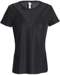 adidas - Mesh-paneled Stretch-jersey T-shirt - Lyst