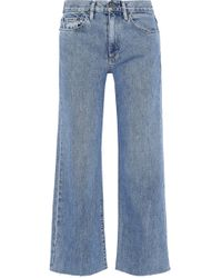 Simon Miller - Marlo Cropped Mid-rise Wide-leg Jeans - Lyst