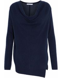 Duffy - Draped Knitted Cashmere Sweater - Lyst