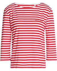 Chinti & Parker | Embroidered Striped Cotton-jersey Top | Lyst