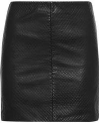 Muubaa - Textured-leather Mini Skirt - Lyst