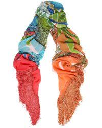 Roberto Cavalli - Frayed Printed Silk Scarf - Lyst