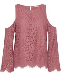 Joie - Abay Cold-shoulder Corded Lace Blouse - Lyst