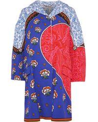 Mary Katrantzou - Spence Kings Printed Cotton-blend Cloqué Coat - Lyst
