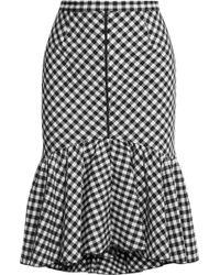 TOME - Ruffled Gingham Jacquard Skirt - Lyst