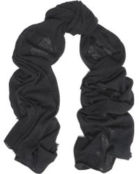 IRO - Woman Fringed Wool And Cashmere-blend Scarf Black - Lyst