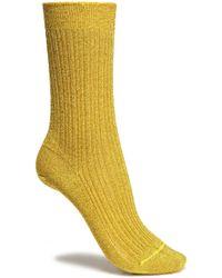 Missoni - Metallic Ribbed-knit Socks - Lyst