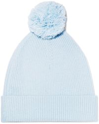 Autumn Cashmere - Pompom-embellished Ribbed Cashmere Beanie - Lyst
