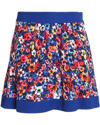 Love Moschino - Floral-print Crepe Mini Skirt - Lyst