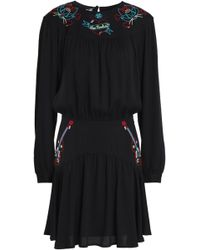 Love Moschino - Embroidered Crepe Mini Dress - Lyst