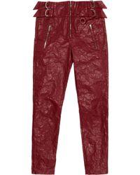 Isabel Marant - Textured-leather Slim-leg Pants - Lyst