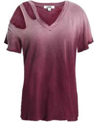 LNA - Cutout Dégradé Cotton-jersey T-shirt - Lyst