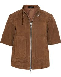 Theory - Lavzinie Suede Jacket - Lyst