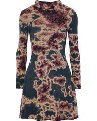 f6bd83e4830d Kain - Woman Mia Tie-dyed Cotton-jersey Mini Dress Storm Blue - Lyst