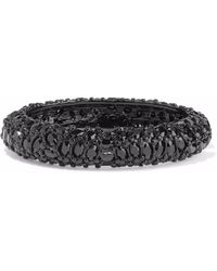 Kenneth Jay Lane - Enamelled Gunmetal-tone Crystal Bangle - Lyst