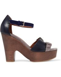 Malone Souliers | Color-block Leather And Suede Platform Sandals | Lyst