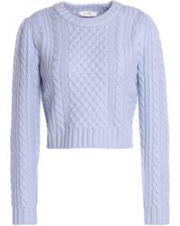 MILLY - Cable-knit Wool Sweater - Lyst
