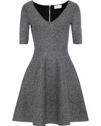 MILLY - Metallic Stretch-knit Mini Dress - Lyst