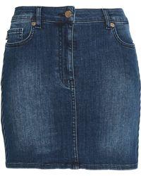 Love Moschino - Faded Denim Mini Skirt Mid Denim - Lyst