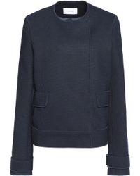 Carven | Piqué Jacket Midnight Blue | Lyst